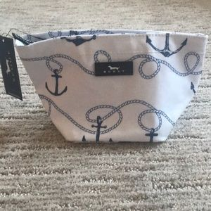Scout anchor cosmetic bag never used